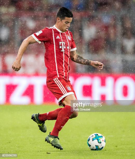 James Rodriguez of FC Bayern Muenchen runs with the ball during the Audi Cup 2017 match between Bayern Muenchen and Liverpool FC at Allianz Arena on...