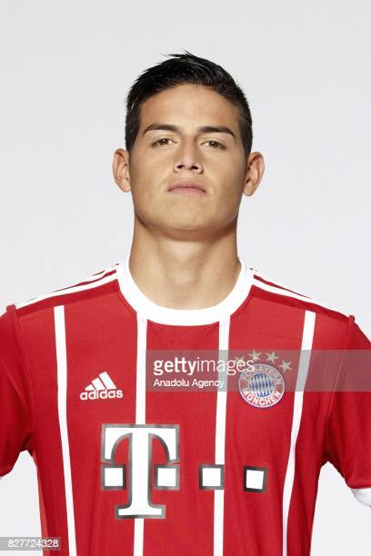 James Rodriguez of FC Bayern Munich poses during the team presentation at Allianz Arena on August 8 2017 in Munich Germany