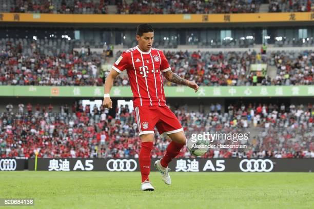 James Rodriguez of Muenchen controlls the ball during the International Champions Cup Shenzen 2017 match between Bayern Muenchen and AC Milan at on...