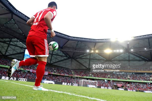 James Rodriguez of Muenchen runs with the ball during the International Champions Cup Shenzen 2017 match between Bayern Muenchen and AC Milan at on...
