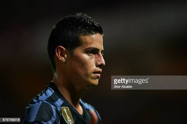 James Rodriguez of Real Madrid CF looks on during the La Liga match between Granada CF v Real Madrid CF at Estadio Nuevo Los Carmenes on May 6 2017...