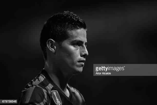 James Rodriguez of Real Madrid CF looks on during the La Liga match between Granada CF v Real Madrid CF at Estadio Nuevo Los Carmenes on May 6 2017...