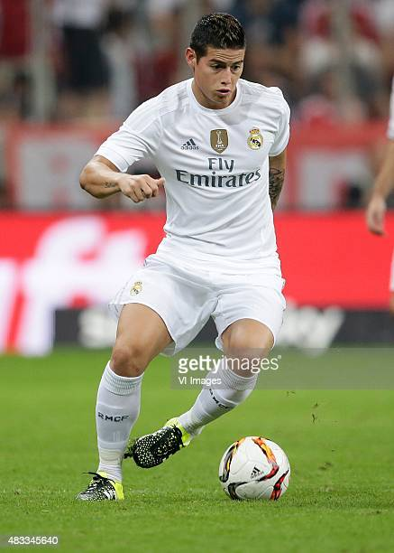 James Rodriguez of Real Madrid during the AUDI Cup final match between Real Madrid and FC Bayern Munich on August 5 2015 at the Allianz Arena in...