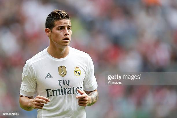 James Rodriguez of Real Madrid during the AUDI Cup match between Real Madrid and Tottenham Hotspur on August 4 2015 at the Allianz Arena in Munich...