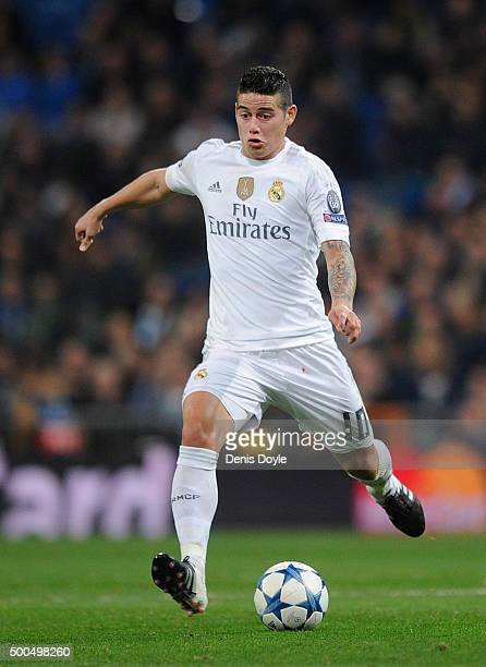 James Rodriguez of Real Madrid in action during the UEFA Champions League Group A match between Real Madrid CF and Malmo FF at the Santiago Bernabeu...