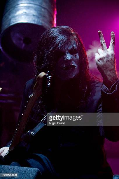 James Root guitar player of American metal band Slipknot performs on stage at the Hammersmith Apollo in London on December 2 2008
