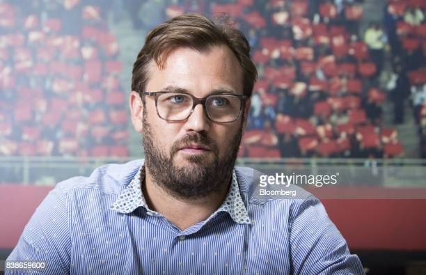 James Rushton chief executive officer of DAZN a UKowned sportsstreaming service speaks during an interview in Tokyo Japan on Wednesday Aug 2 2017...