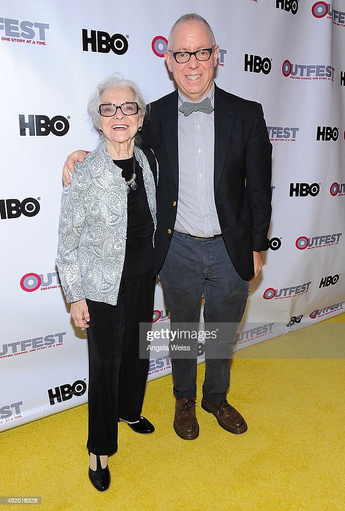 <a gi-track='captionPersonalityLinkClicked' href=/galleries/search?phrase=James+Schamus&family=editorial&specificpeople=628217 ng-click='$event.stopPropagation()'>James Schamus</a> (R) and his mother attend the 2014 Outfest opening night gala of 'Life Partners' at Orpheum Theatre on July 10, 2014 in Los Angeles, California.