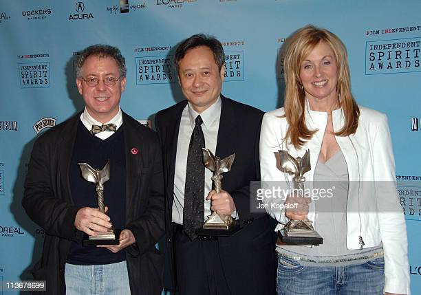 "James Schamus winner Best Feature for ""Brokeback Mountain"" Ang Lee winner Best Director for ""Brokeback Mountain"" and Diana Ossana winner Best Feature..."