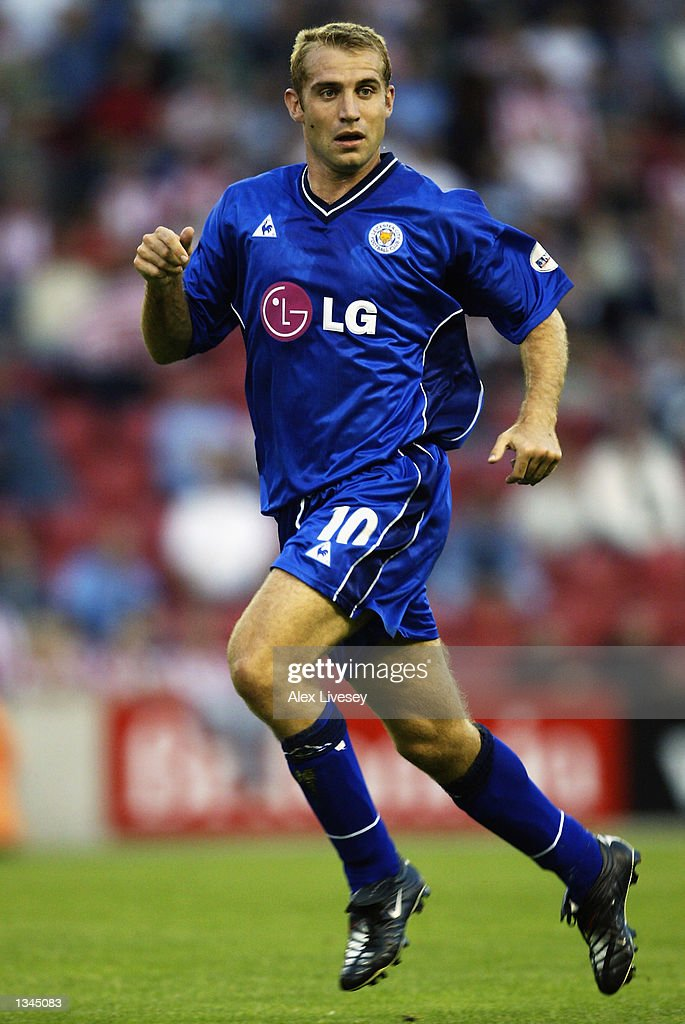 James Scowcroft of Leicester City in action during the Nationwide First Division match between Stoke City and Leicester City at the Brittania Stadium in Stoke on 14 August, 2002.