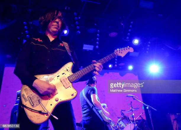 James Sedwards performs onstage with Thurston Moore at Teragram Ballroom on May 13 2017 in Los Angeles California