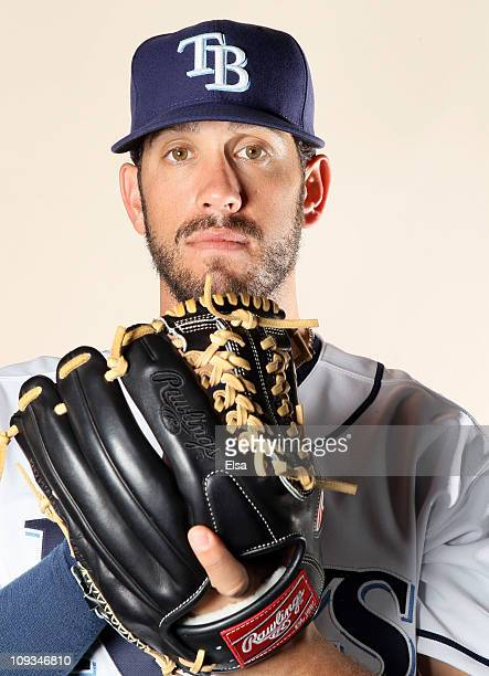 James Shields of the Tampa Bay Rays poses for a portrait during the Tampa Bay Rays Photo Day on February 22 2011 at the Charlotte Sports Complex in...