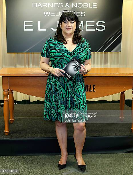 L James signs copies of her new book 'Grey' at Barnes Noble 5th Avenue on June 18 2015 in New York City