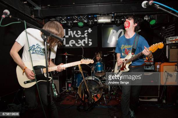 James Simpson and Jamie Glass of Get Inuit perform at The Key Club during Live At Leeds on April 29 2017 in Leeds England Live at Leeds is a music...