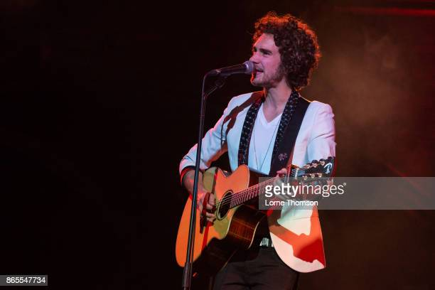 James Sinclair Stott of Cross Atlantic performs live on stage at the Union Chapel on October 23 2017 in London England