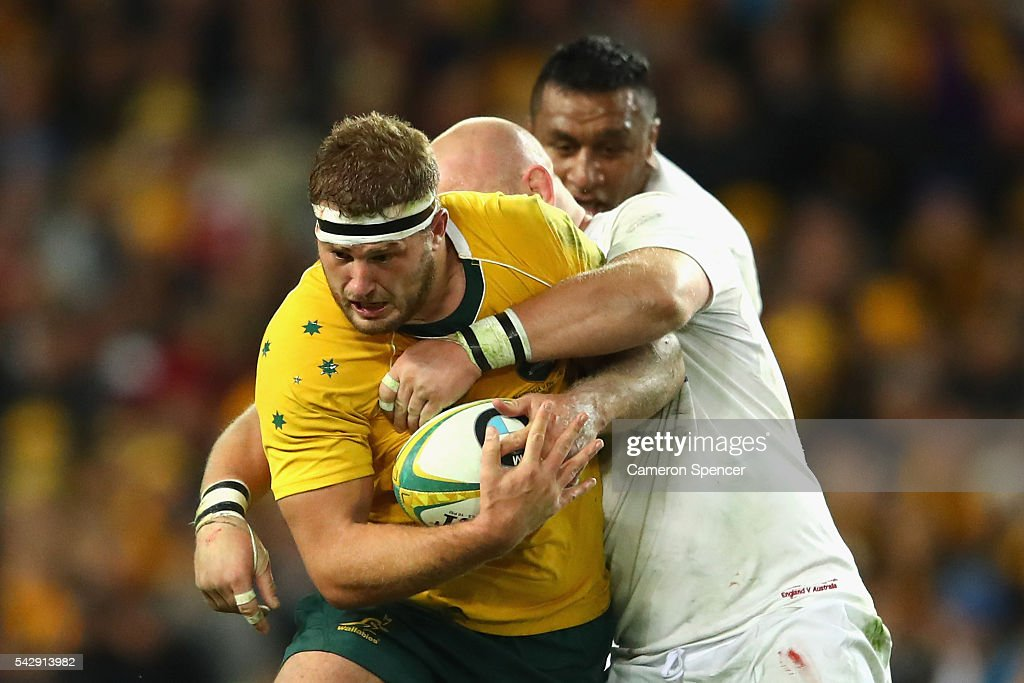james slipper of the wallabies is tackled during the international test match between the australian wallabies - Point Mariage La Rochelle