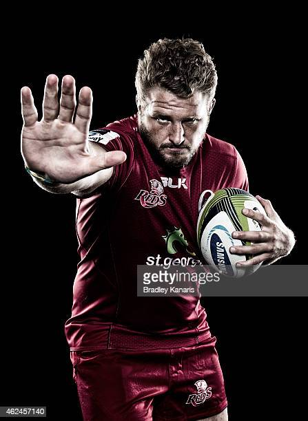 James Slipper poses during a Queensland Reds portrait session on January 29 2015 in Brisbane Australia