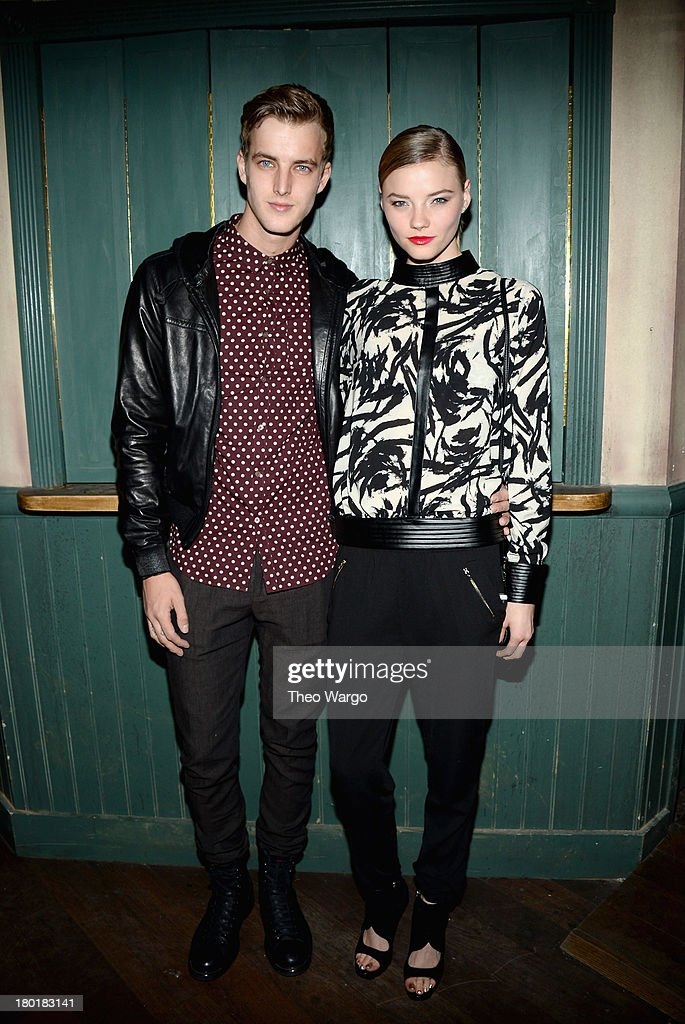 James Smith (L) and Alanna Whittaker attend Burberry Acoustic presents Tom O'Dell on September 9, 2013 in New York City.