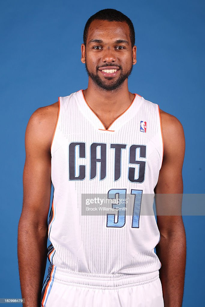 James Southerland #31 of the Charlotte Bobcats poses for media day at the Time Warner Cable Arena on September 20, 2013 in Charlotte, North Carolina.