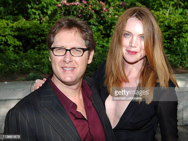 James Spader and fiancee Leslie Stefanson during 2005/2006 ABC UpFront Arrivals at Lincoln Center in New York City New York United States