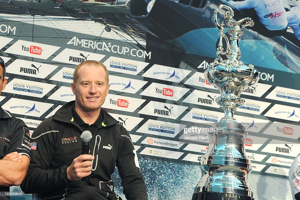 James Spithill attends the Skipper Press Conference on November 15 2011 in San Diego California