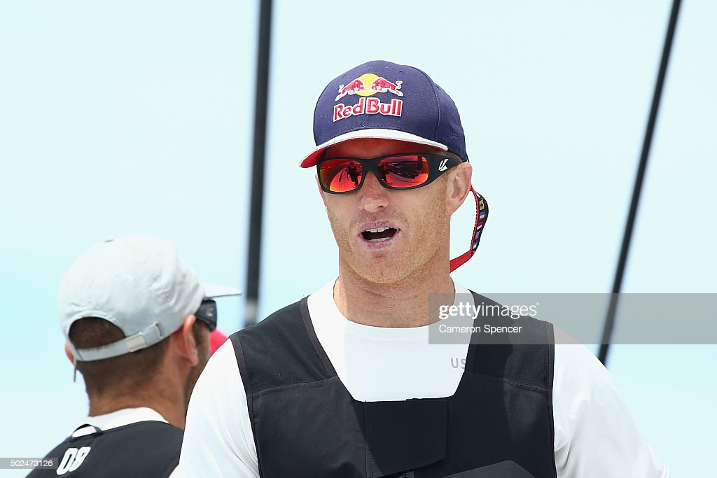 James Spithill is seen onboard Supermaxi Comanche during the 2015 Sydney to Hobart on December 26 2015 in Sydney Australia