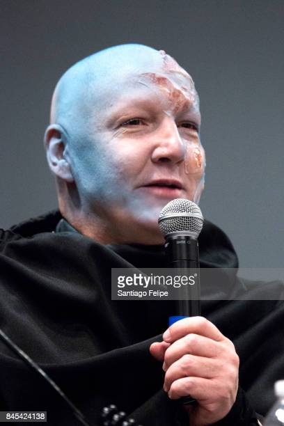 James St James gets a 'Transformations' makeover by Vander Von Odd during RuPaul's DragCon NYC 2017 at The Jacob K Javits Convention Center on...