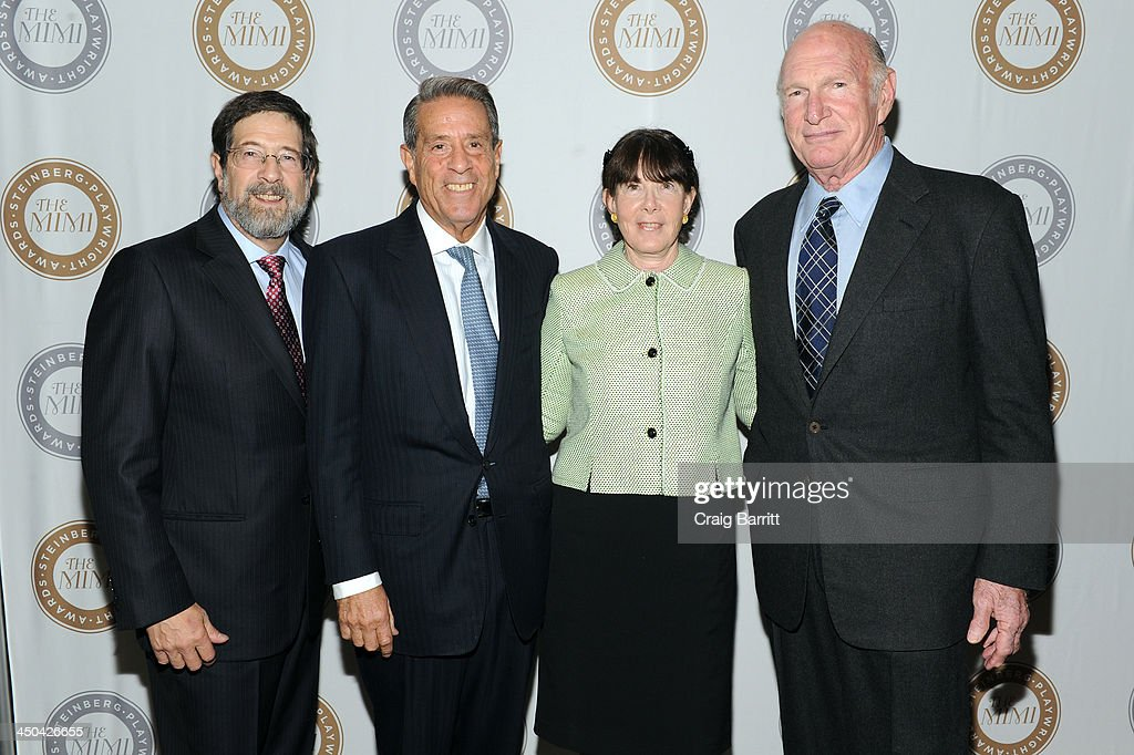 James Steinberg, Michael Steinberg, Carole Krumland and Seth M. Weingarten attend The 2013 Steinberg Playwright 'Mimi' Awards presented by The Harold and Mimi Steinberg Charitable Trust at Lincoln Center Theater on November 18, 2013 in New York City.