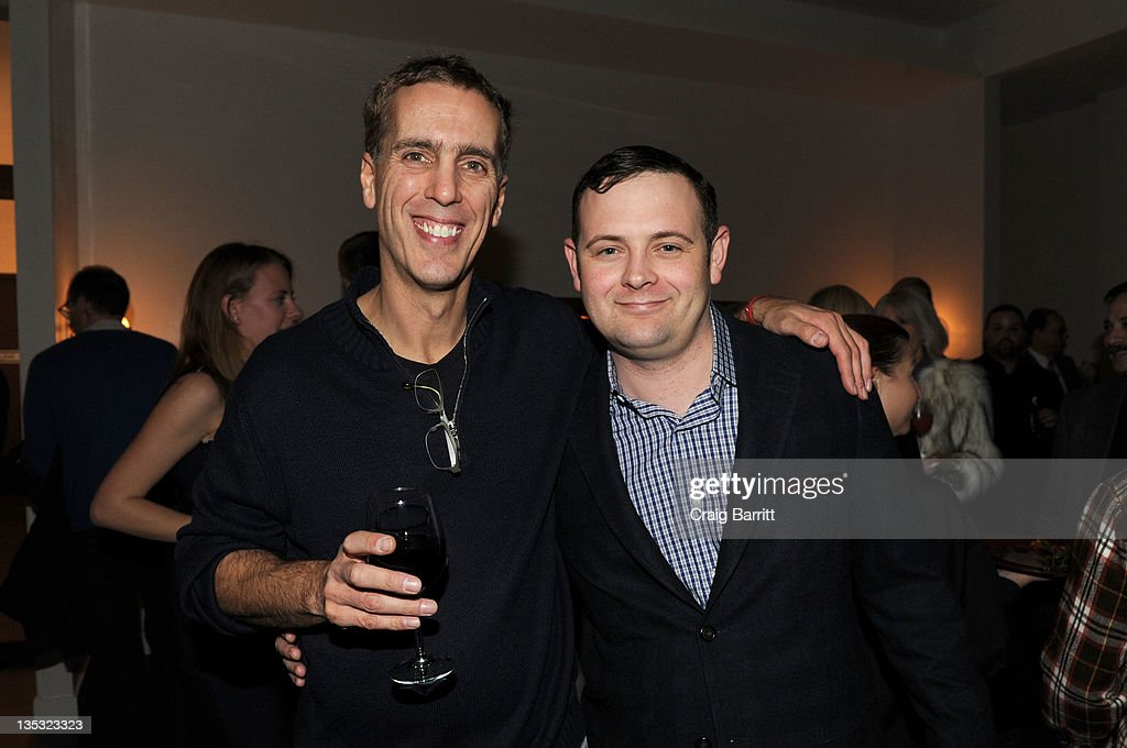 James Stern and Christopher Woodrow attend the Worldview Entertainment 2011 Holiday Party at William Beaver House on December 8, 2011 in New York City.