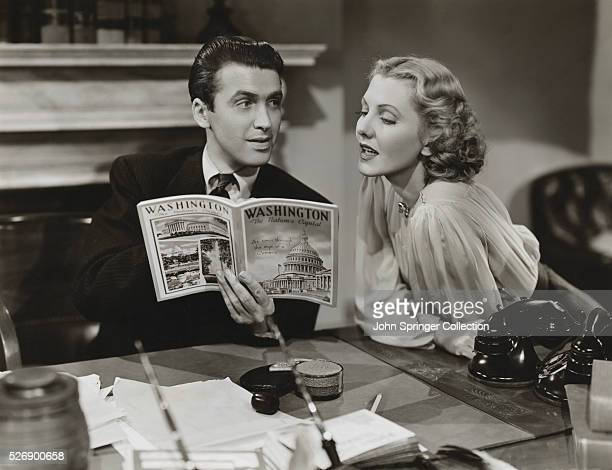 James Stewart and Jean Arthur read a book about Washington in the 1939 film Mr Smith Goes to Washington
