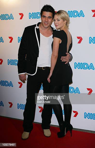 James Stewart and Jessica Marais arrive at the NIDA Foundation Trust gala event on August 7 2010 in Sydney Australia The gala is created and executed...
