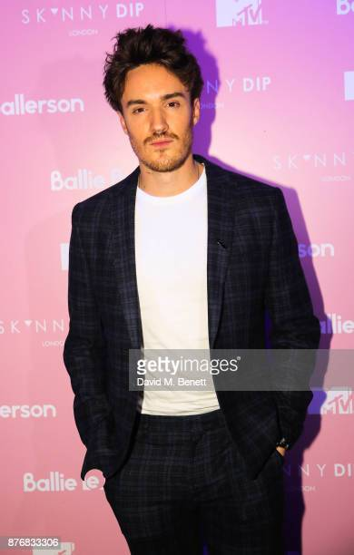 James Stewart attends the launch of the Skinnydip x MTV collection at Ballie Ballerson on November 20 2017 in London England