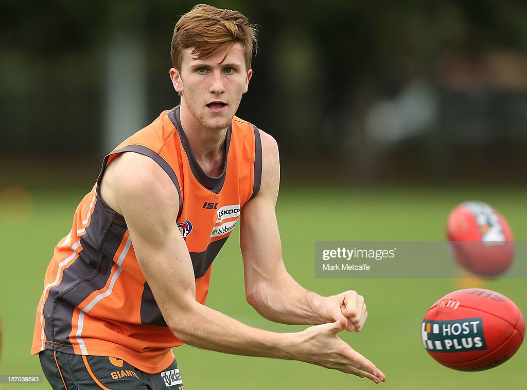 James Stewart in action during a Greater Western Sydney Giants AFL pre-season training session at Lakeside Oval on November 28, 2012 in Sydney, Australia.
