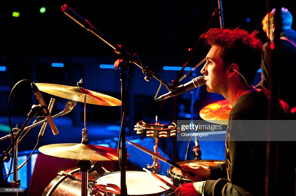 James Stone of Little Night Terrors performs during the pre show soundcheck at o2 Academy on February 25, 2013 in Leicester, England.