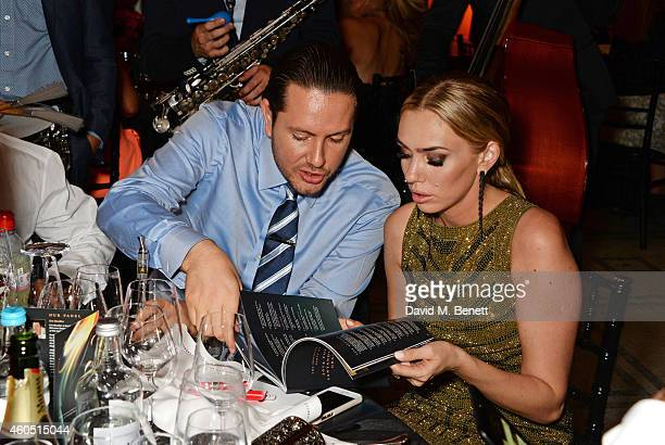 James Stunt and Petra Ecclestone attend The F1 Party in aid of the Great Ormond Street Children's Hospital at the Victoria and Albert Museum on July...