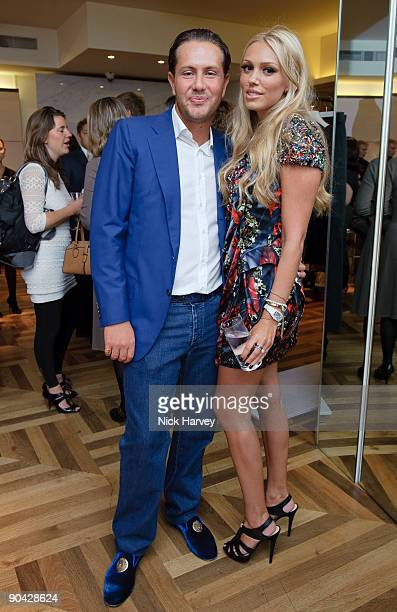 James Stunt and Petra Ecclestone attend the launch party for 'Form' luxury menswear collection on September 7 2009 in London England