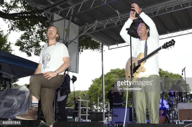 James Sunderland and Brett Hite of Frenship perform during Lollapalooza 2017 at Grant Park on August 4 2017 in Chicago Illinois
