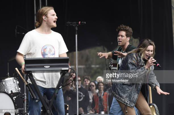 James Sunderland and Brett Hite of Frenship perform during the 2017 Outside Lands Music and Arts Festival at Golden Gate Park on August 13 2017 in...