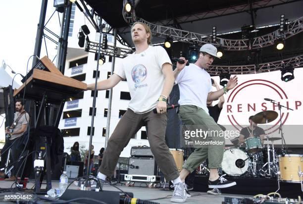 James Sunderland and Brett Hite of Frenship perform during the 2017 Life is Beautiful Festival on September 24 2017 in Las Vegas Nevada