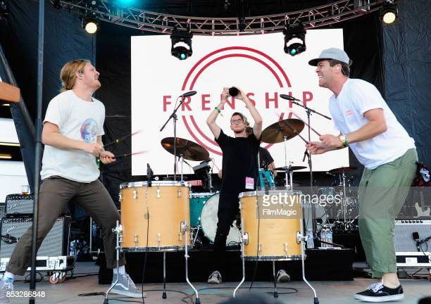 James Sunderland and Brett Hite of Frenship perform on Huntridge Stage during day 3 of the 2017 Life Is Beautiful Festival on September 24 2017 in...