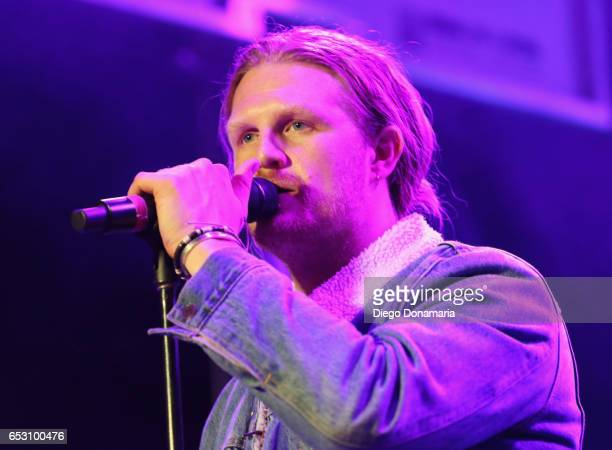 James Sunderland of Frenship performs onstage at the Pandora Party during 2017 SXSW Conference and Festivals at The Gatsby on March 13 2017 in Austin...