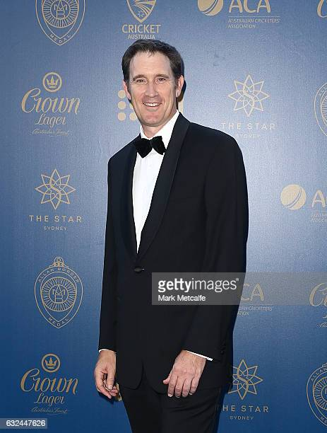 James Sutherland arrives ahead of the 2017 Allan Border Medal at The Star on January 23 2017 in Sydney Australia