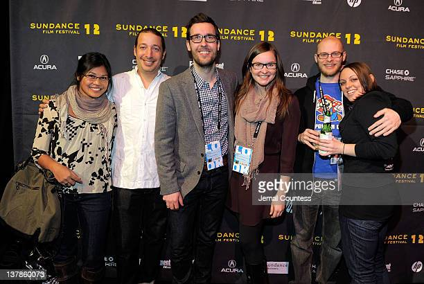James Swirsky Lisanne Pajot Tommy Refenes and Shannon Gregory pose with guests at the Awards Night Ceremony Reception during the 2012 Sundance Film...