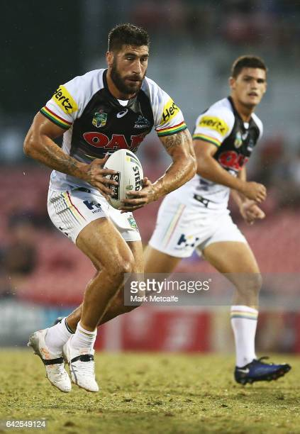 James Tamou of the Panthers in action during the NRL Trial match between the Penrith Panthers and Parramatta Eels at Pepper Stadium on February 18...