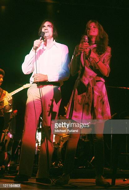 James Taylor and Carly Simon perform on stage New York April 1978