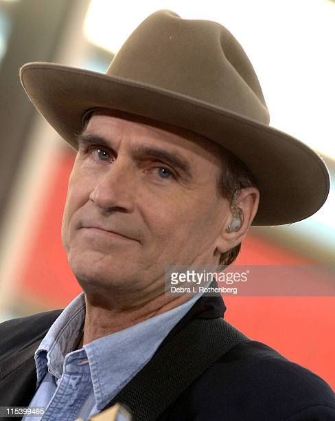 James Taylor during James Taylor Performs on the 2005 ''Today'' Show Summer Concert Series at Rockefeller Plaza in New York City New York United...