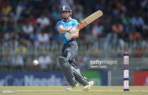 James Taylor of England bats during the 4th One Day International match between Sri Lanka and England at R Premadasa Stadium on December 7 2014 in...