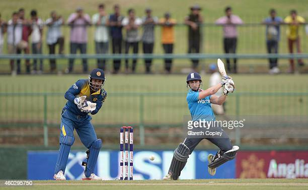 James Taylor of England bats during the 5th One Day International between Sri Lanka and England at Pallekele Cricket Stadium on December 11 2014 in...