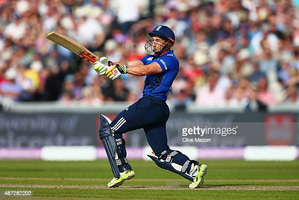 James Taylor of England in action batting during the 3rd Royal London OneDay International match between England and Australia at Old Trafford on...