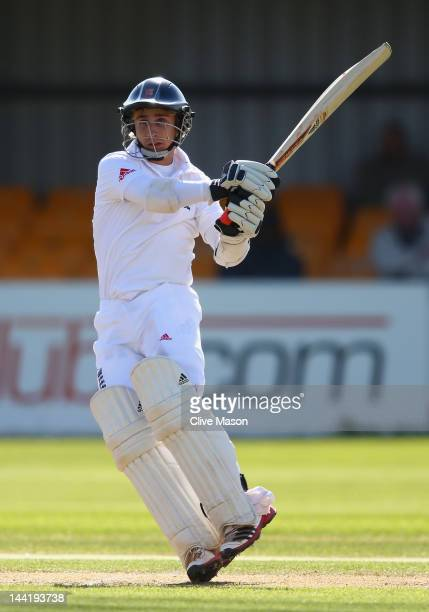 James Taylor of England Lions in action on his way to a century during day two of the tour match between England Lions and West Indies at The County...